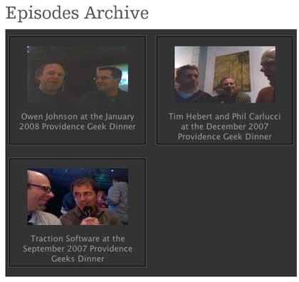 Providence Geeks Video Blog