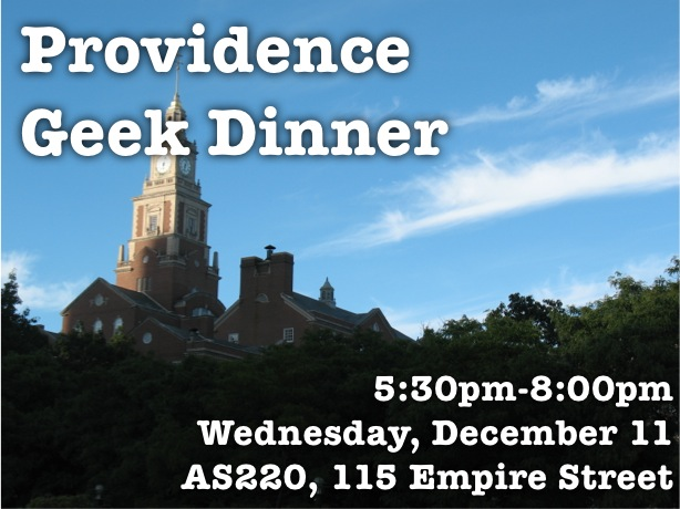 Providence Geek Dinner @ AS220 | Providence | Rhode Island | United States